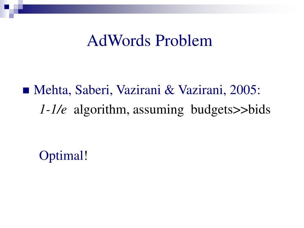 AdWords Problem