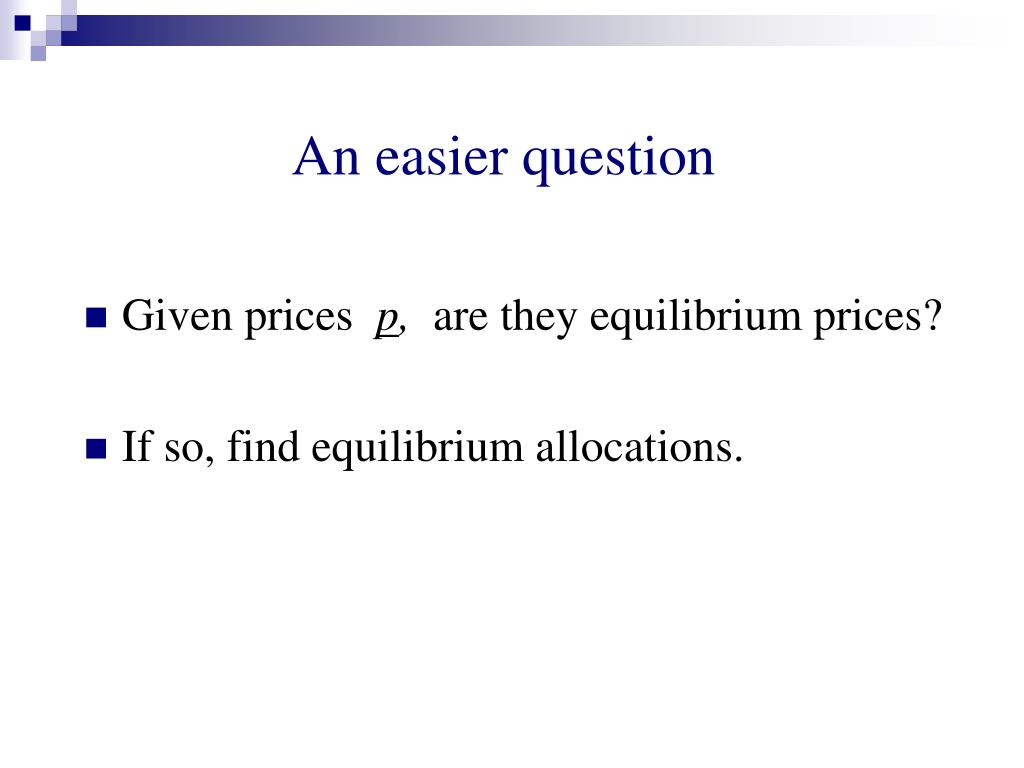 An easier question