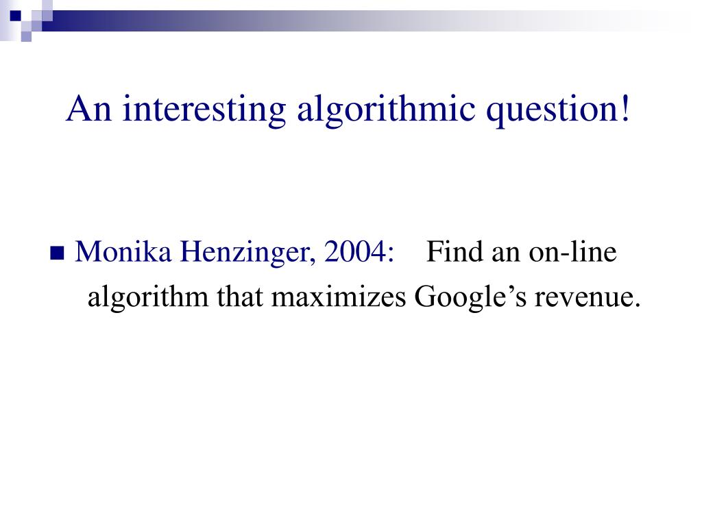 An interesting algorithmic question!