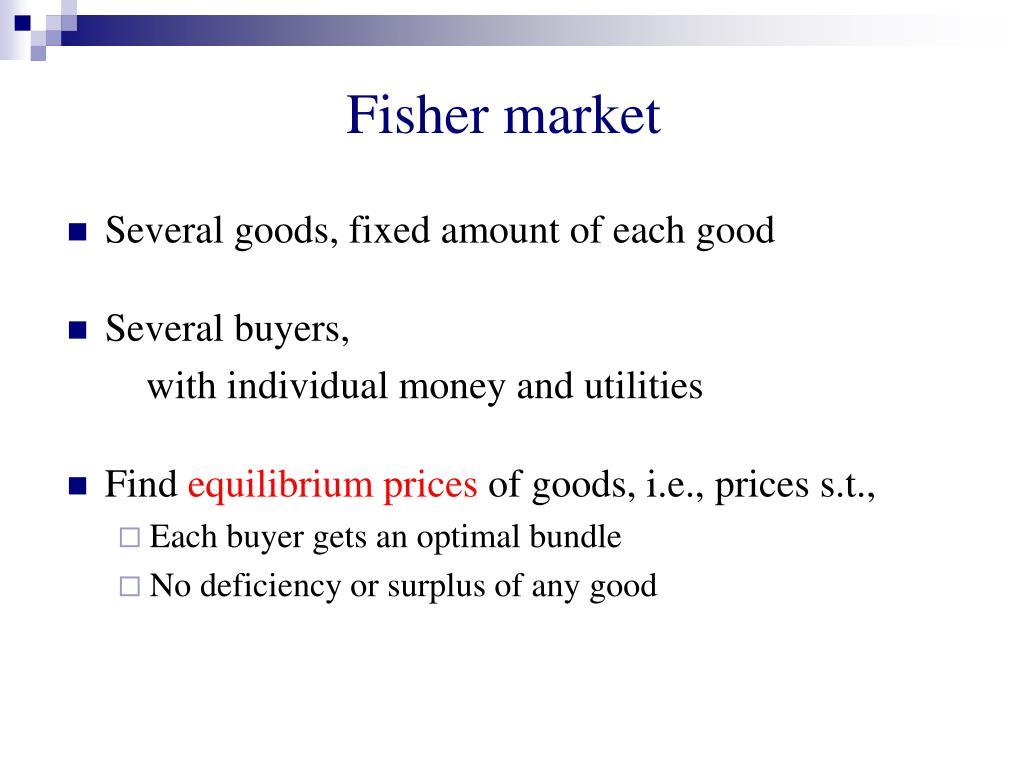 Fisher market