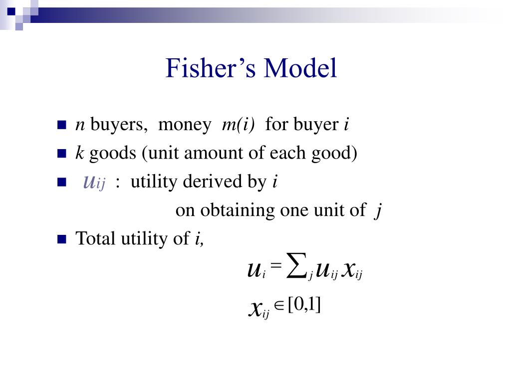 Fisher's Model