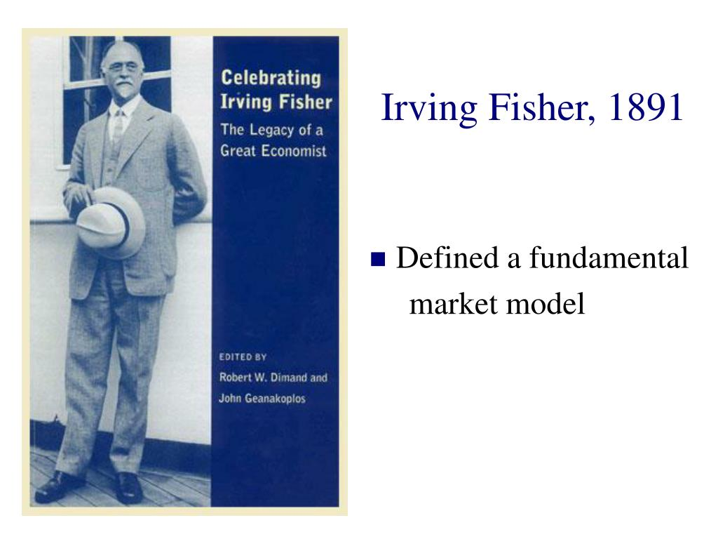 Irving Fisher, 1891
