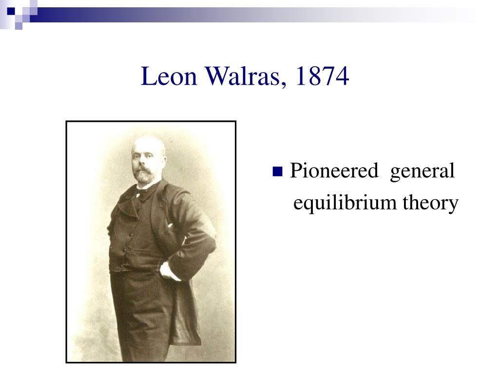 Leon Walras, 1874