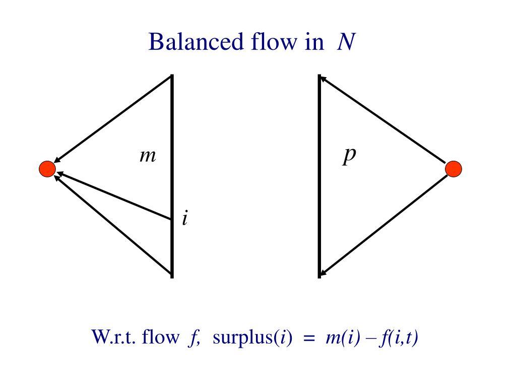 Balanced flow in
