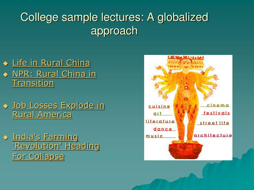 College sample lectures: A globalized approach