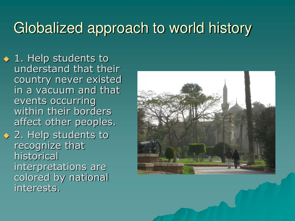 Globalized approach to world history