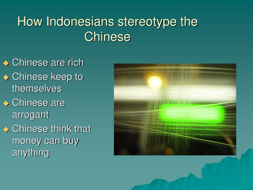 How Indonesians stereotype the Chinese