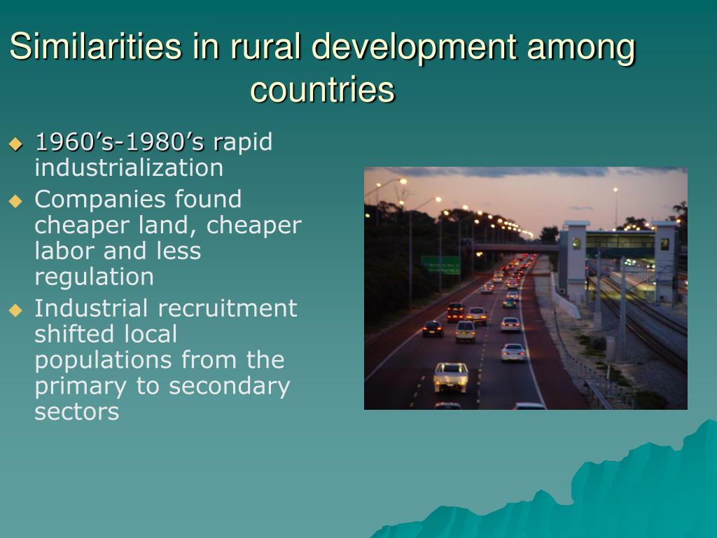 Similarities in rural development among countries