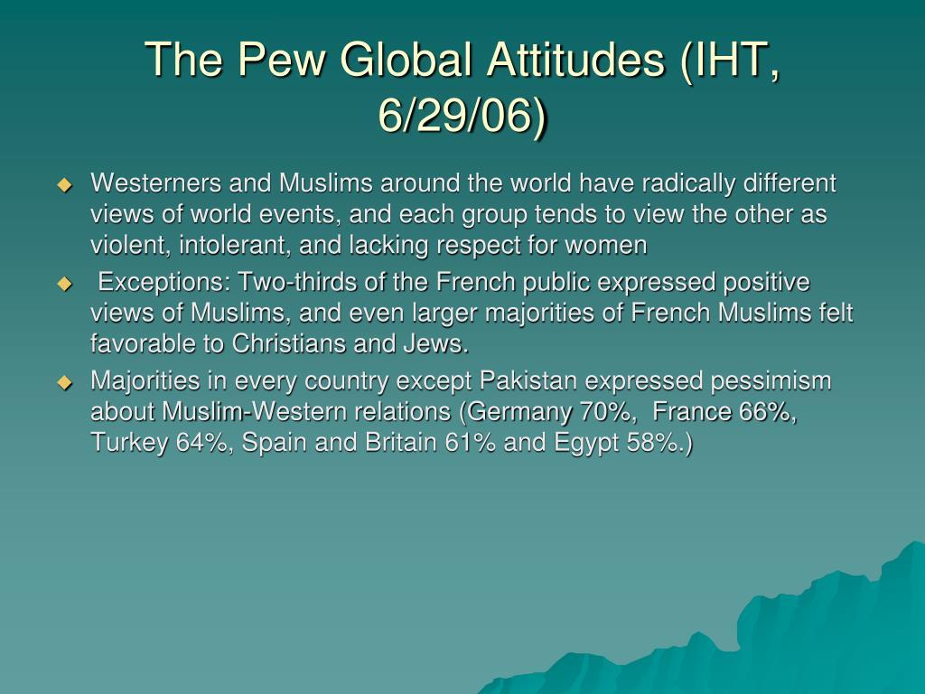 The Pew Global Attitudes