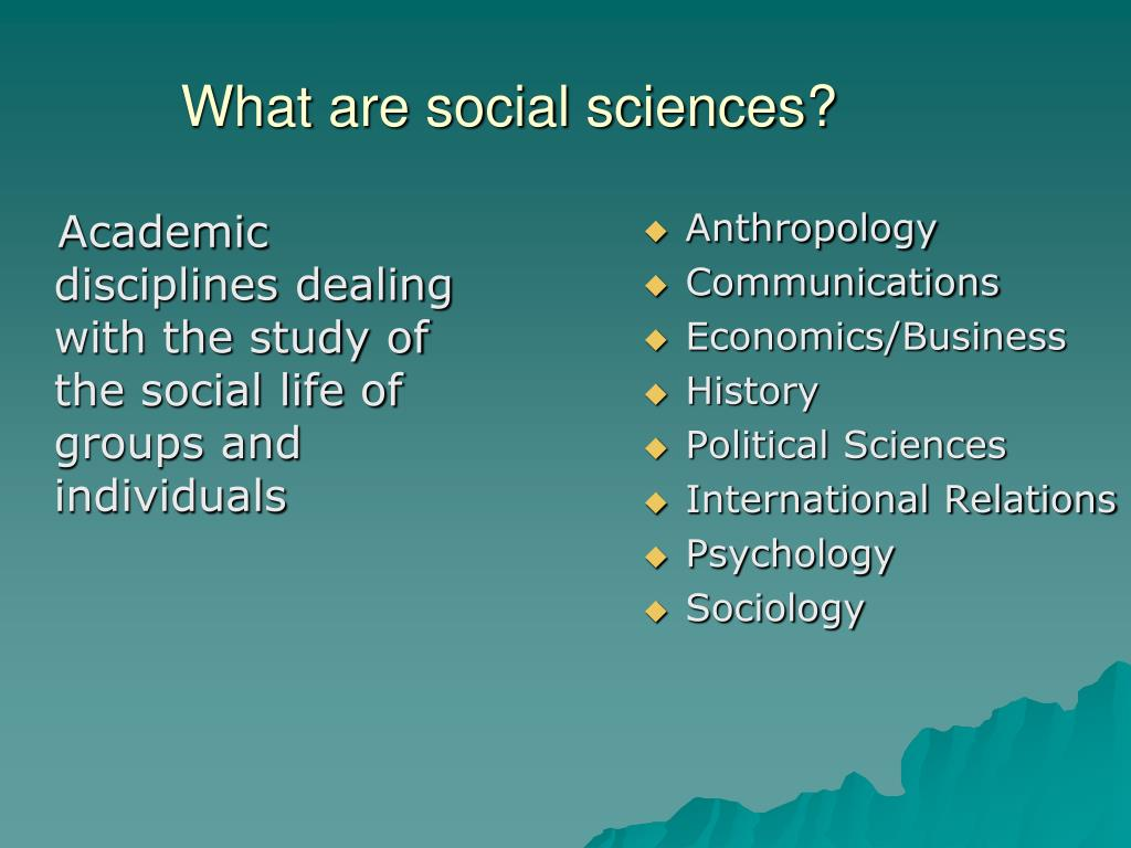 What are social sciences?