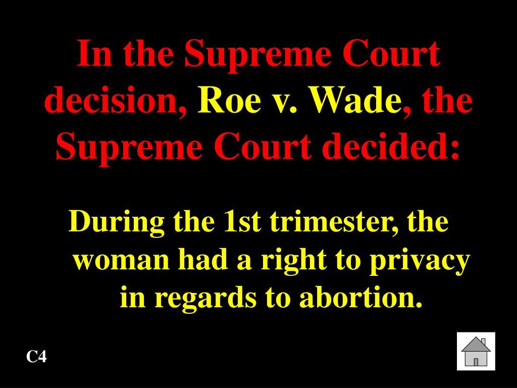 In the Supreme Court decision,