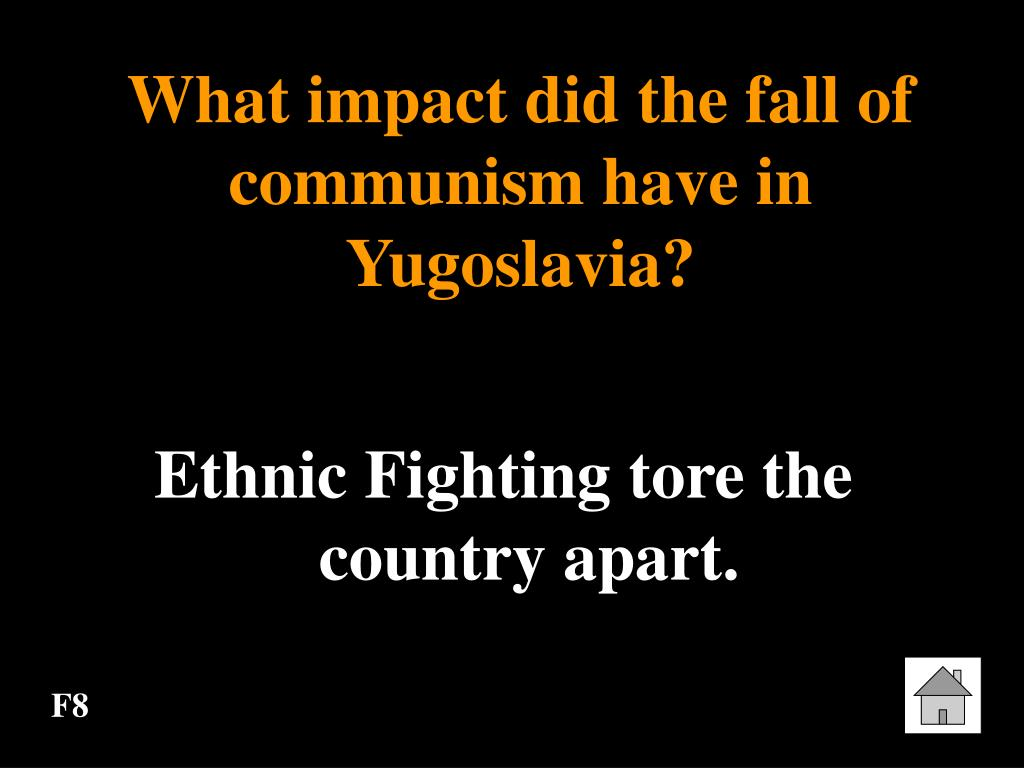 What impact did the fall of communism have in Yugoslavia?
