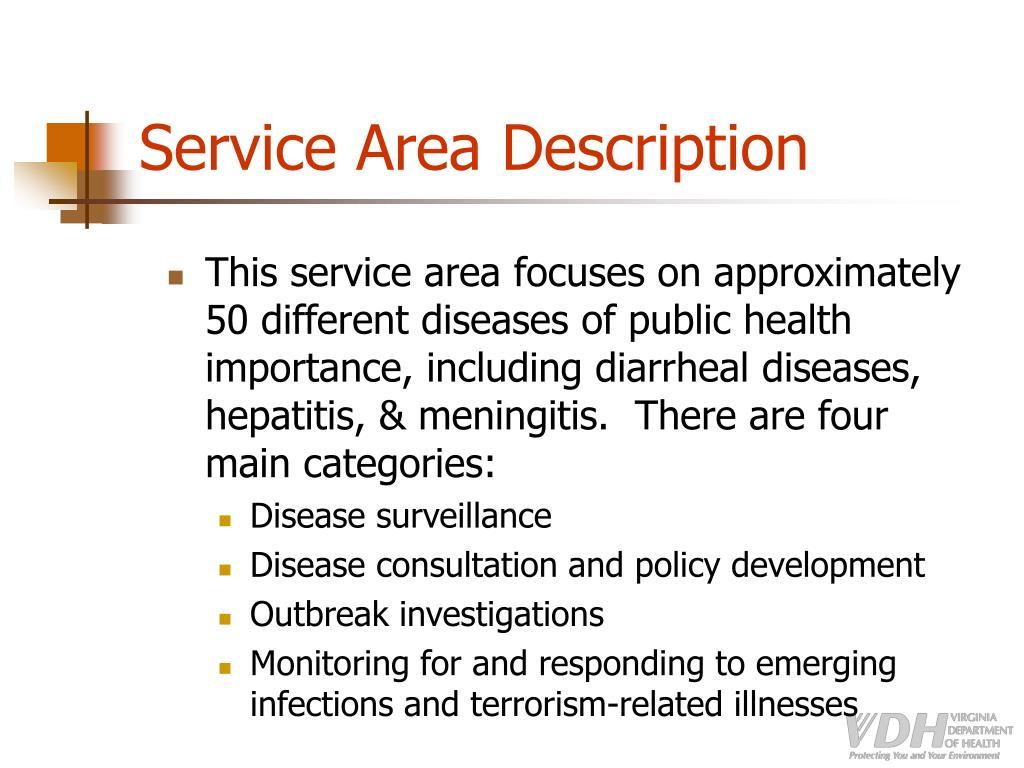 Service Area Description