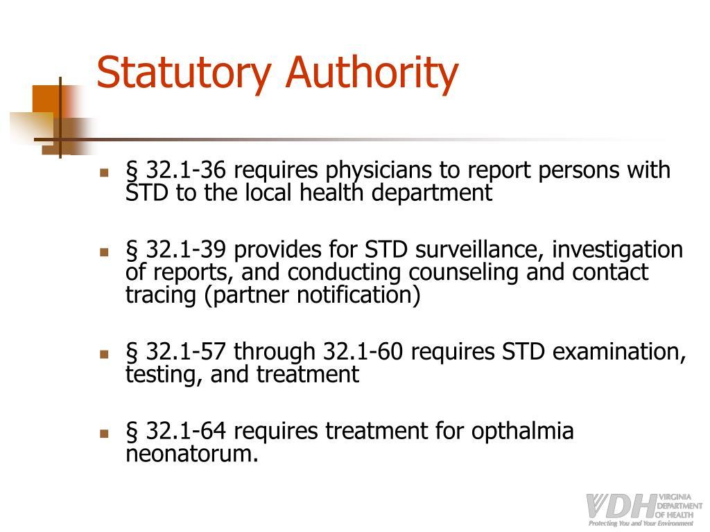 Statutory Authority