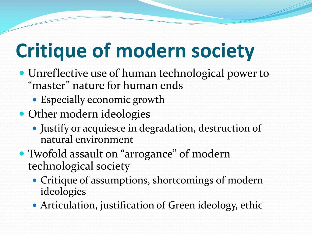 Critique of modern society