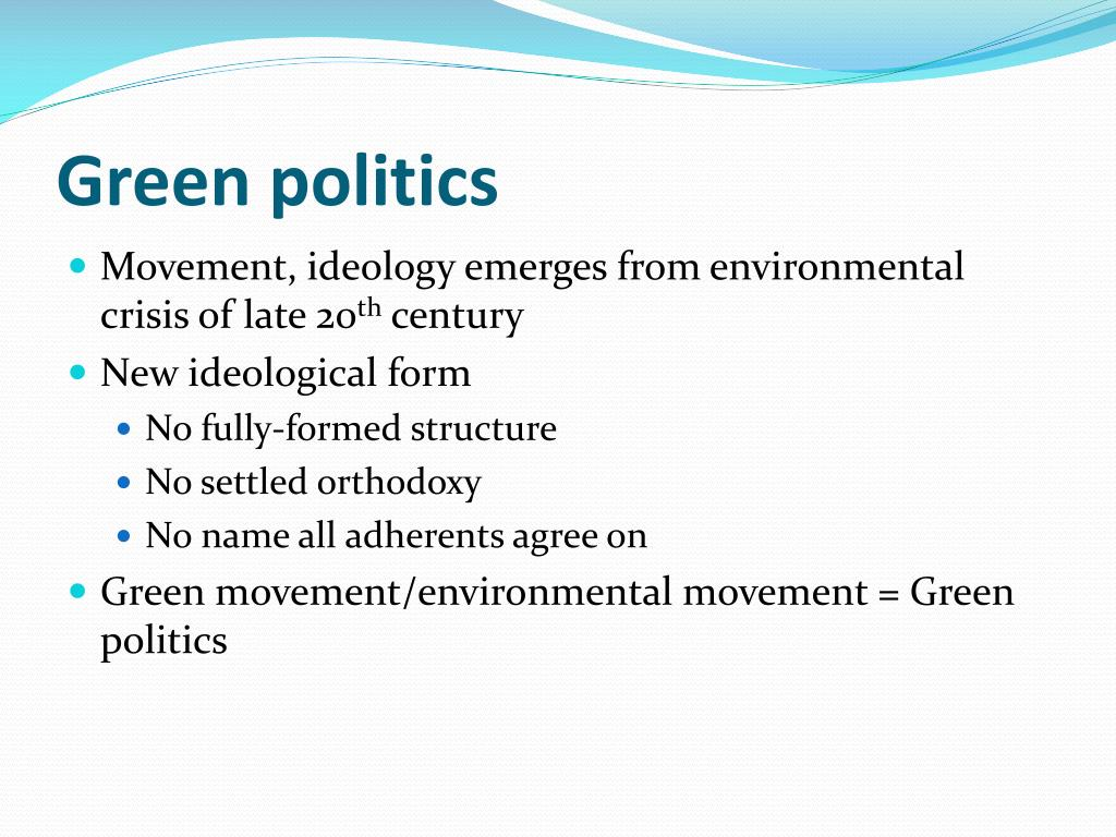 Green politics