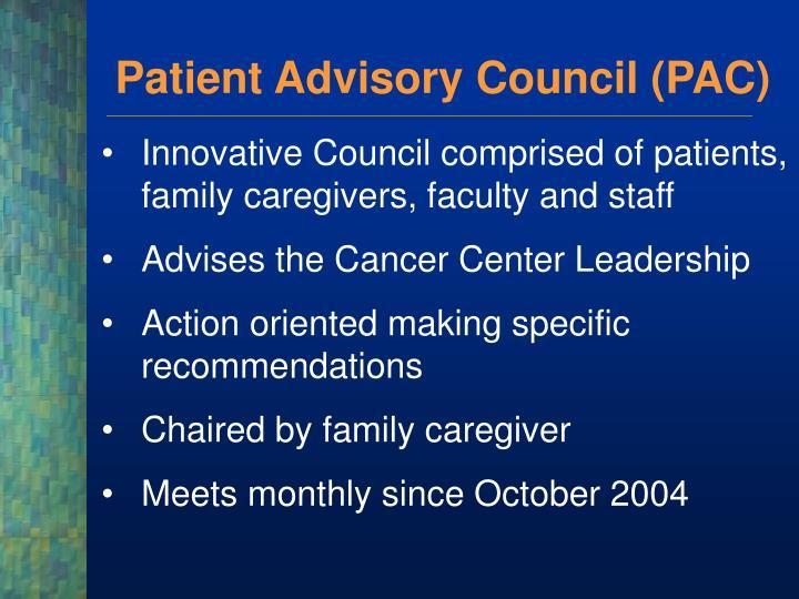 Patient Advisory Council (PAC)