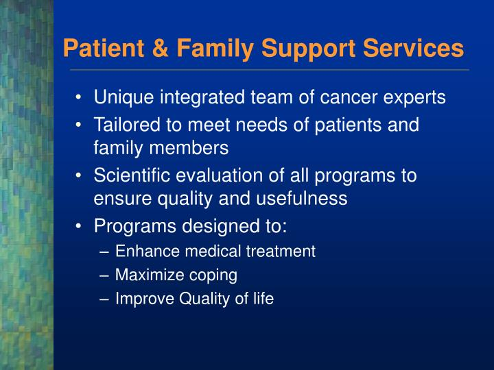 Patient family support services1