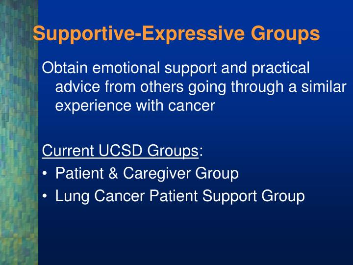 Supportive-Expressive Groups