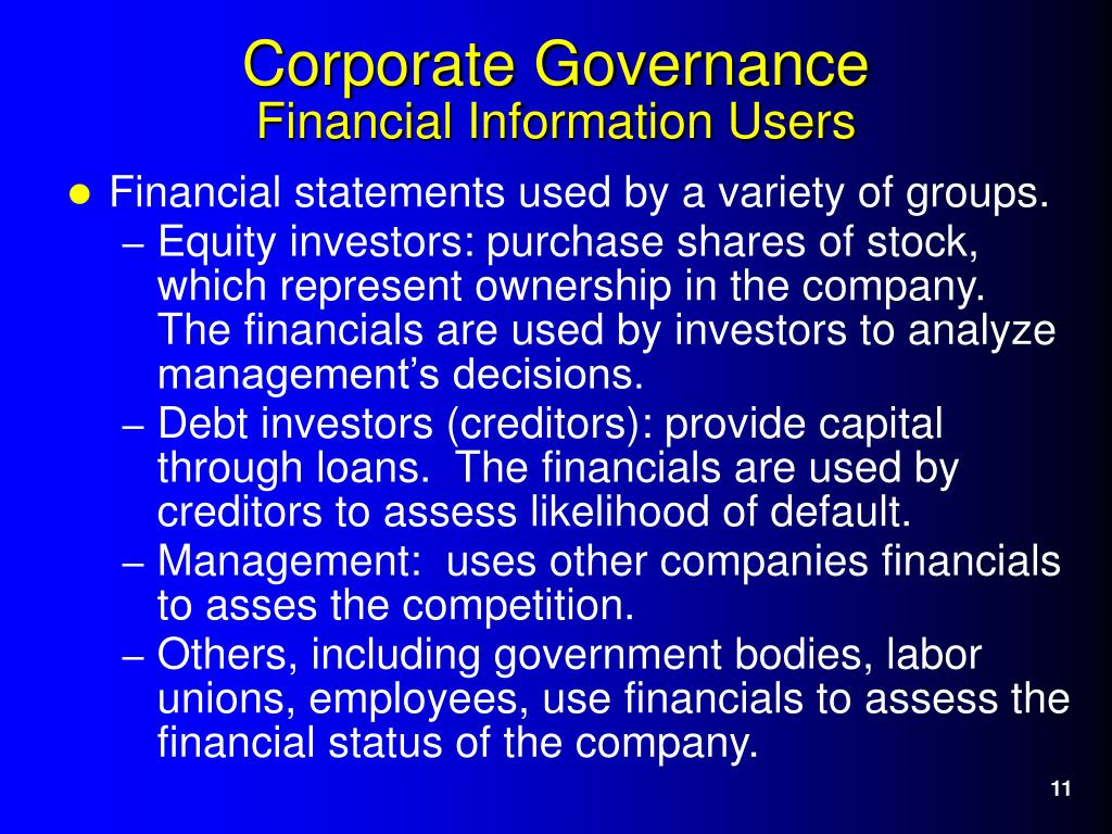 Financial statements used by a variety of groups.