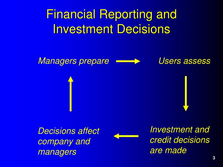 Financial reporting and investment decisions