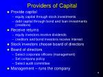 providers of capital
