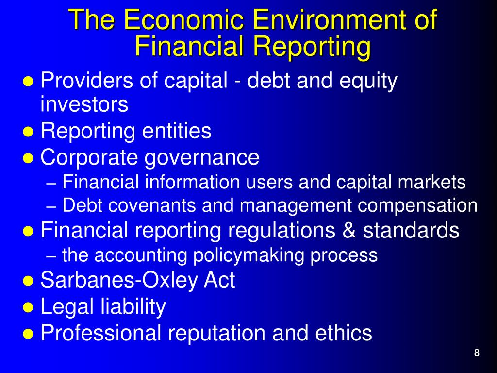 Providers of capital - debt and equity investors