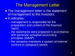 the management letter
