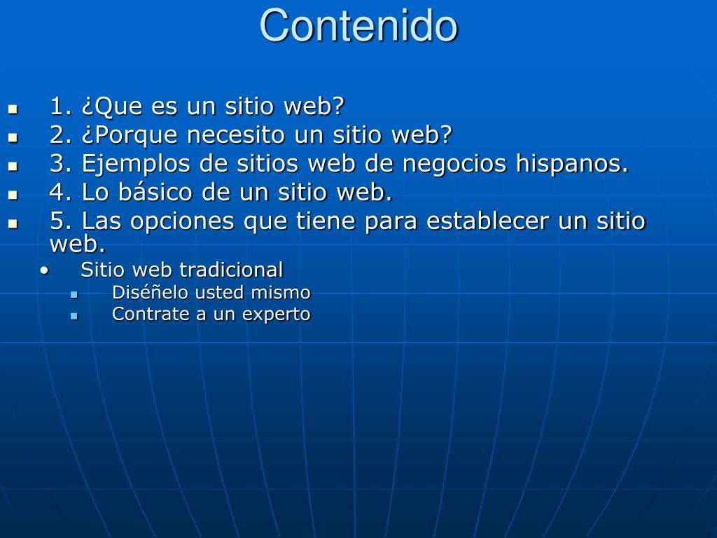 1. ¿Que es un sitio web?