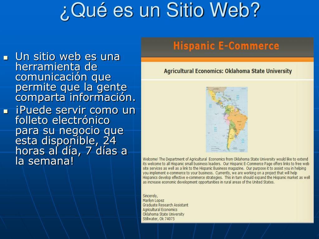¿Qué es un Sitio Web?