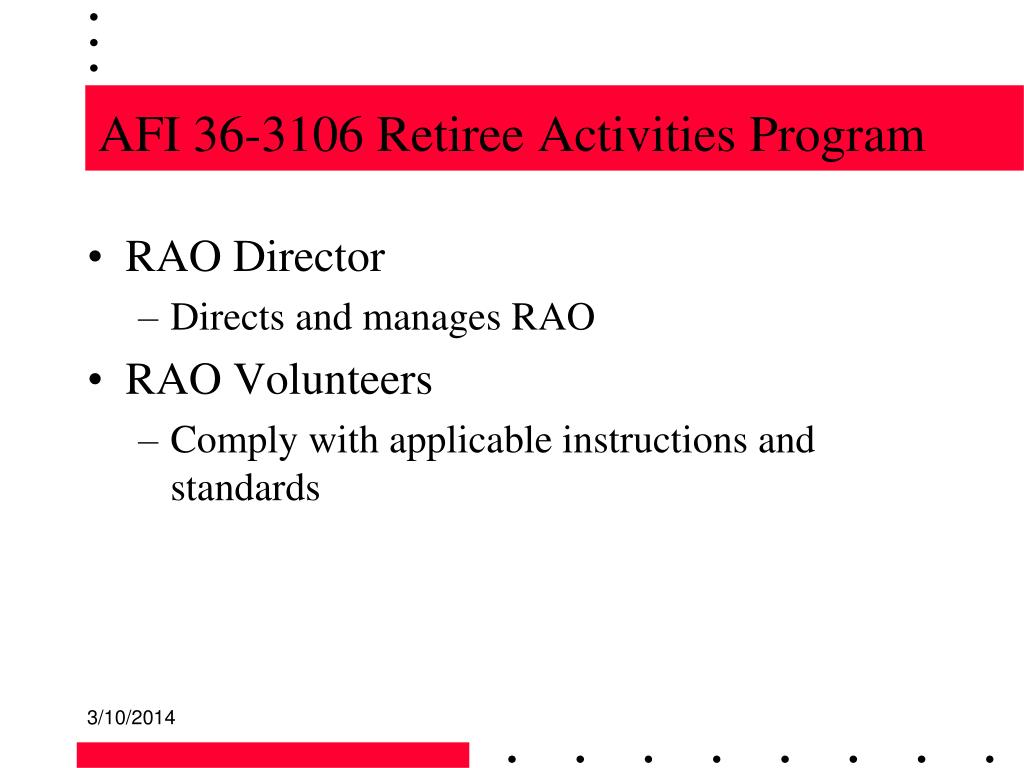 AFI 36-3106 Retiree Activities Program