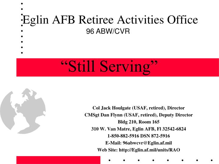 Eglin afb retiree activities office