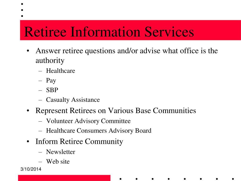 Retiree Information Services