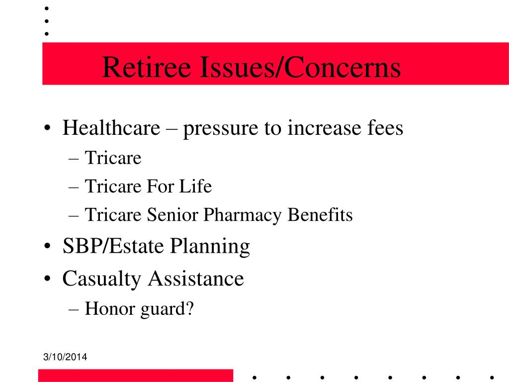 Retiree Issues/Concerns