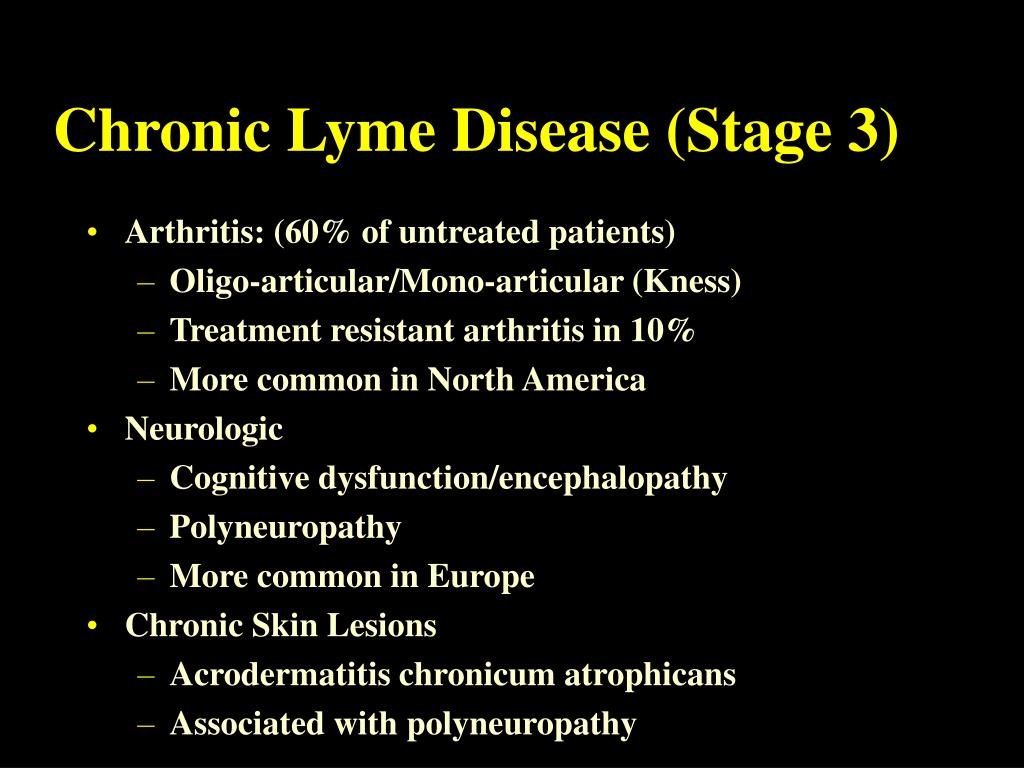 Chronic Lyme Disease (Stage 3)
