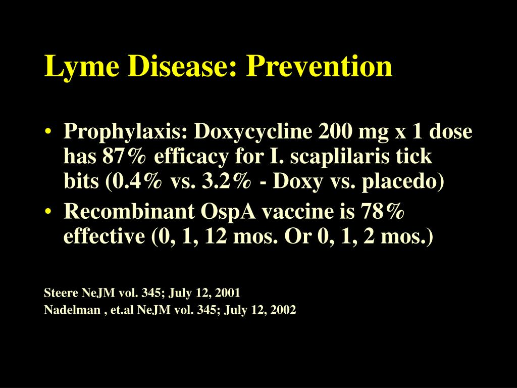 Lyme Disease: Prevention