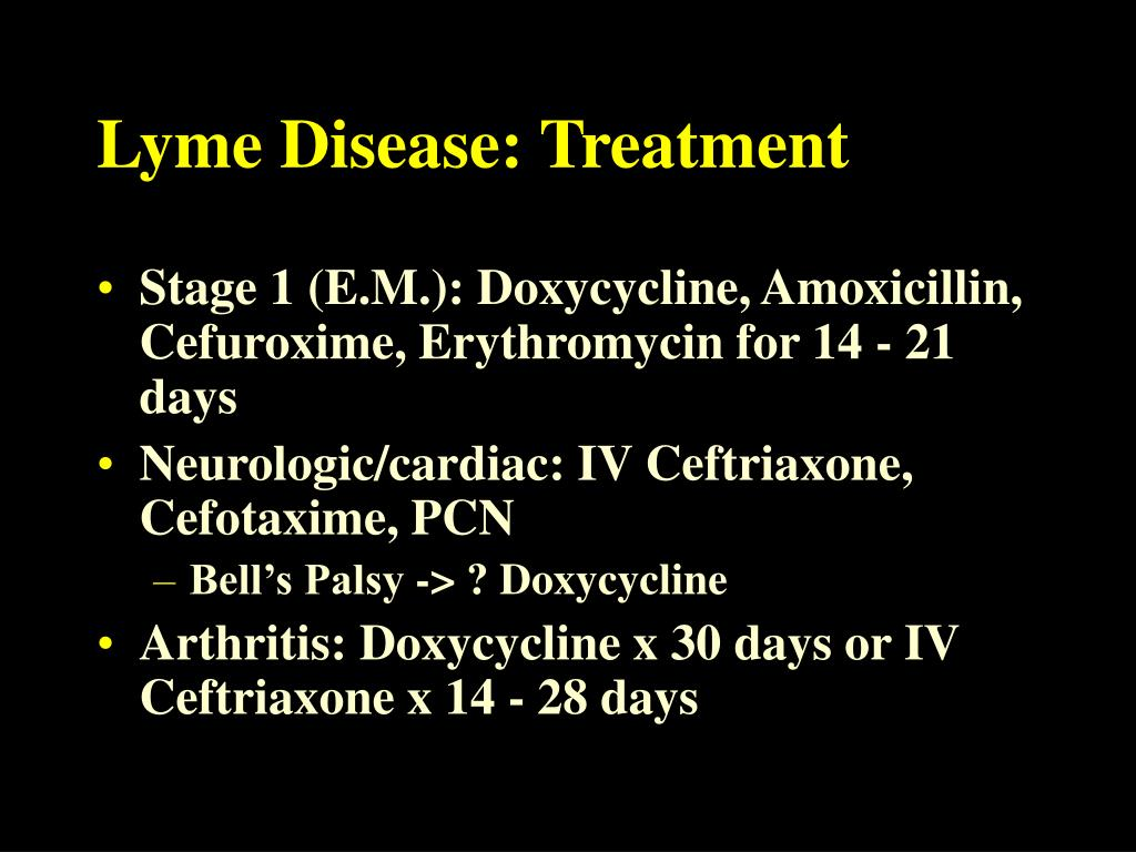 Lyme Disease: Treatment