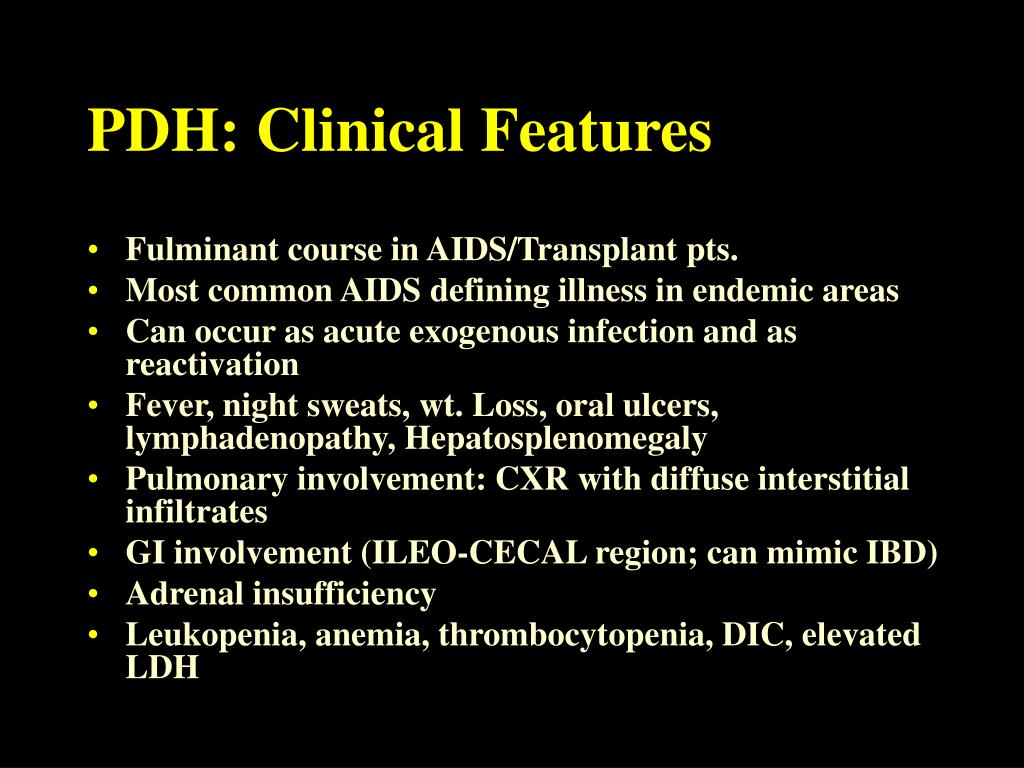 PDH: Clinical Features