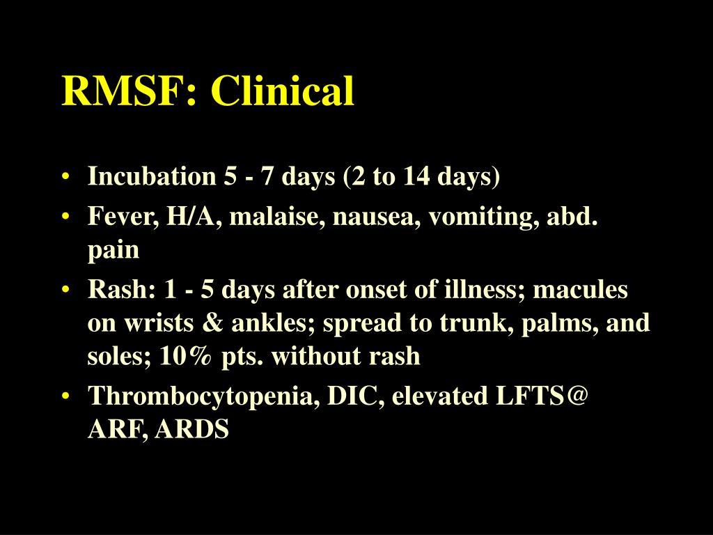 RMSF: Clinical
