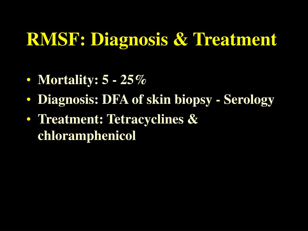 RMSF: Diagnosis & Treatment