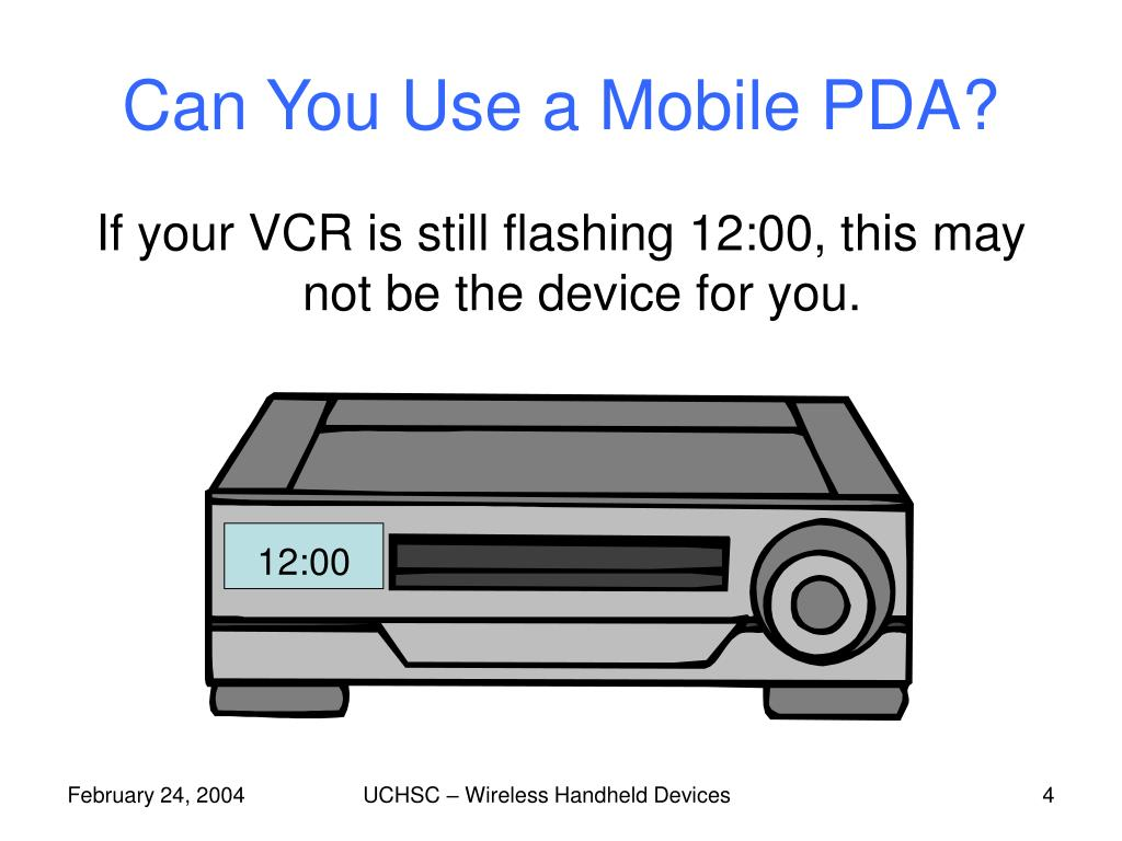 Can You Use a Mobile PDA?