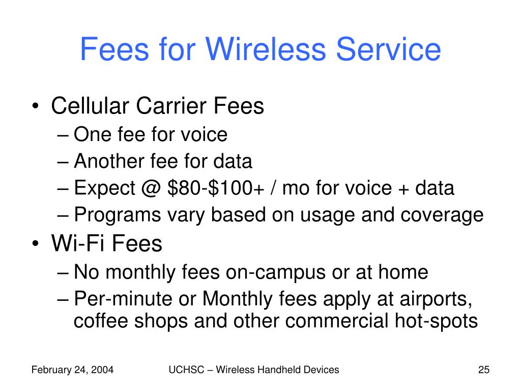 Fees for Wireless Service