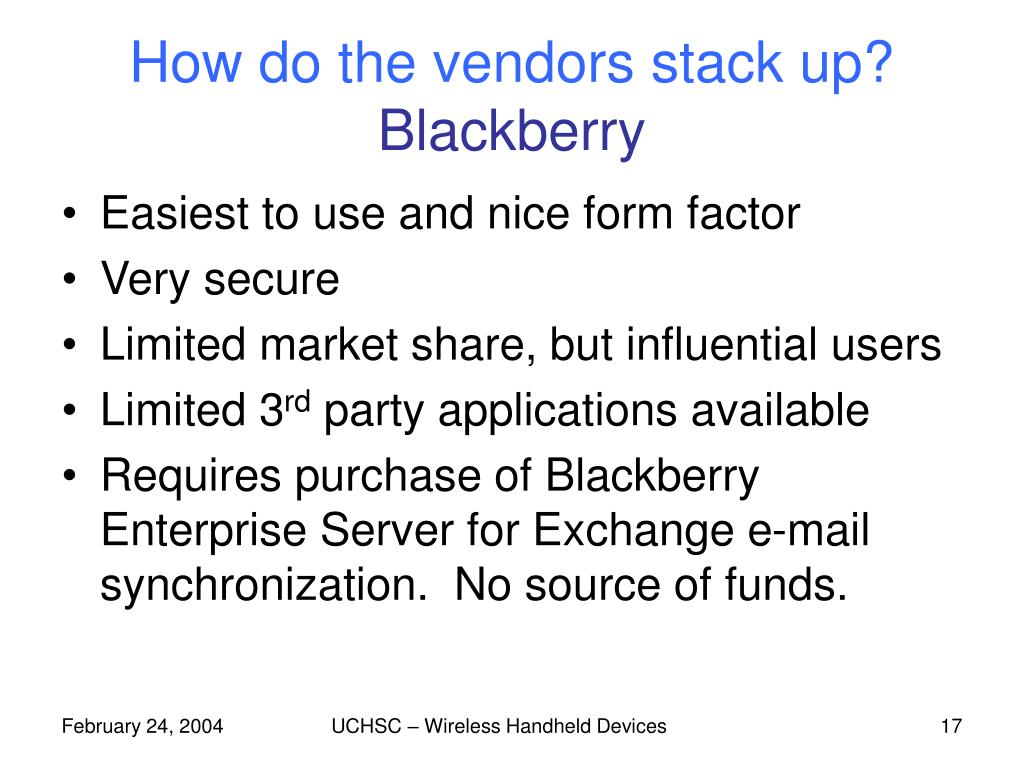 How do the vendors stack up?