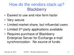 how do the vendors stack up blackberry