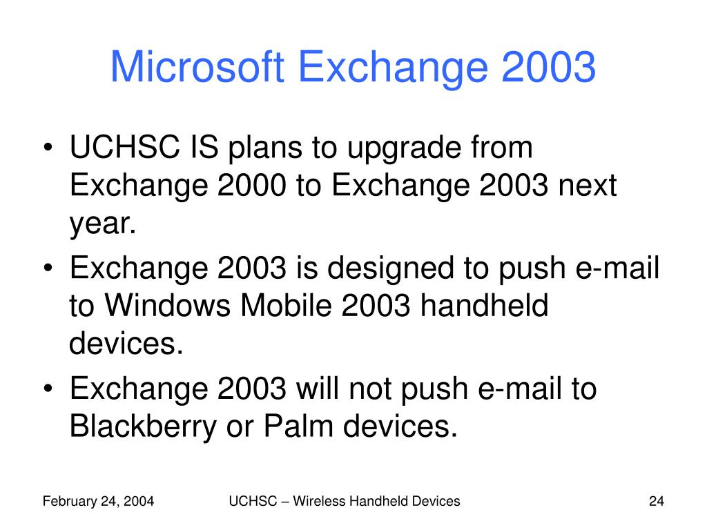 Microsoft Exchange 2003