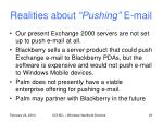realities about pushing e mail