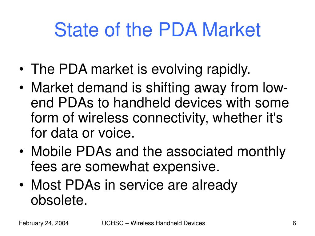 State of the PDA Market