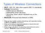 types of wireless connections