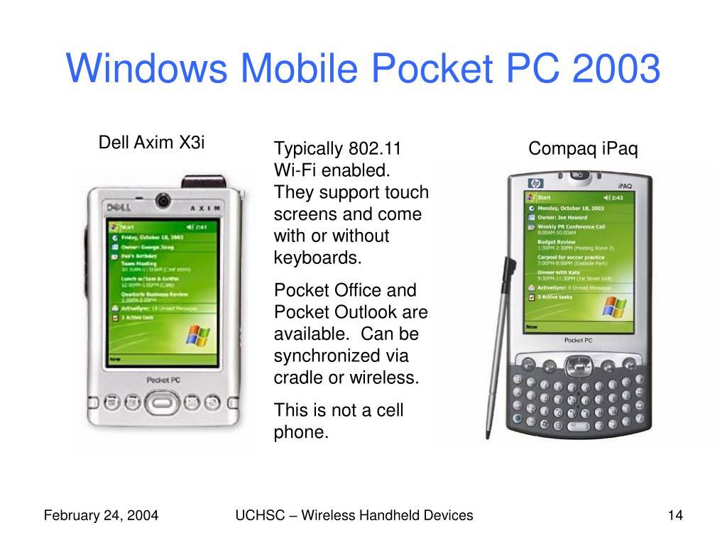 Windows Mobile Pocket PC 2003