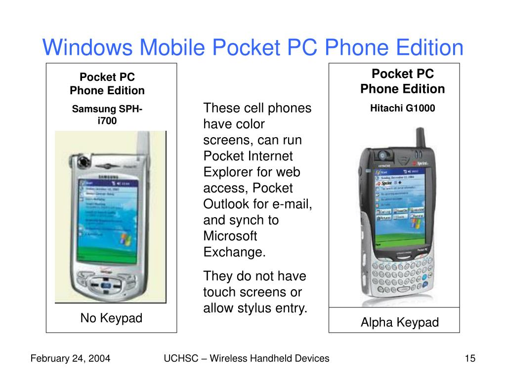 Windows Mobile Pocket PC Phone Edition